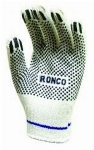 Gants tricot coton poly avec point PVC RONCO SQD