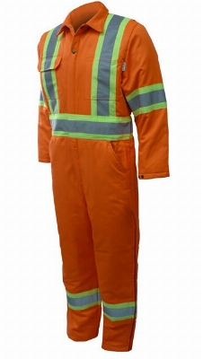 COVERALL GAT'S ORANGE DOUBLE B/RFL 4PO ZIP JAMBE GR : 46