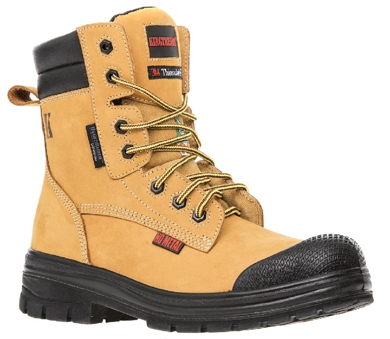 "BOTTE TRAVAIL KINGTREAD 8"" TAN IMP NO METAL CSA"